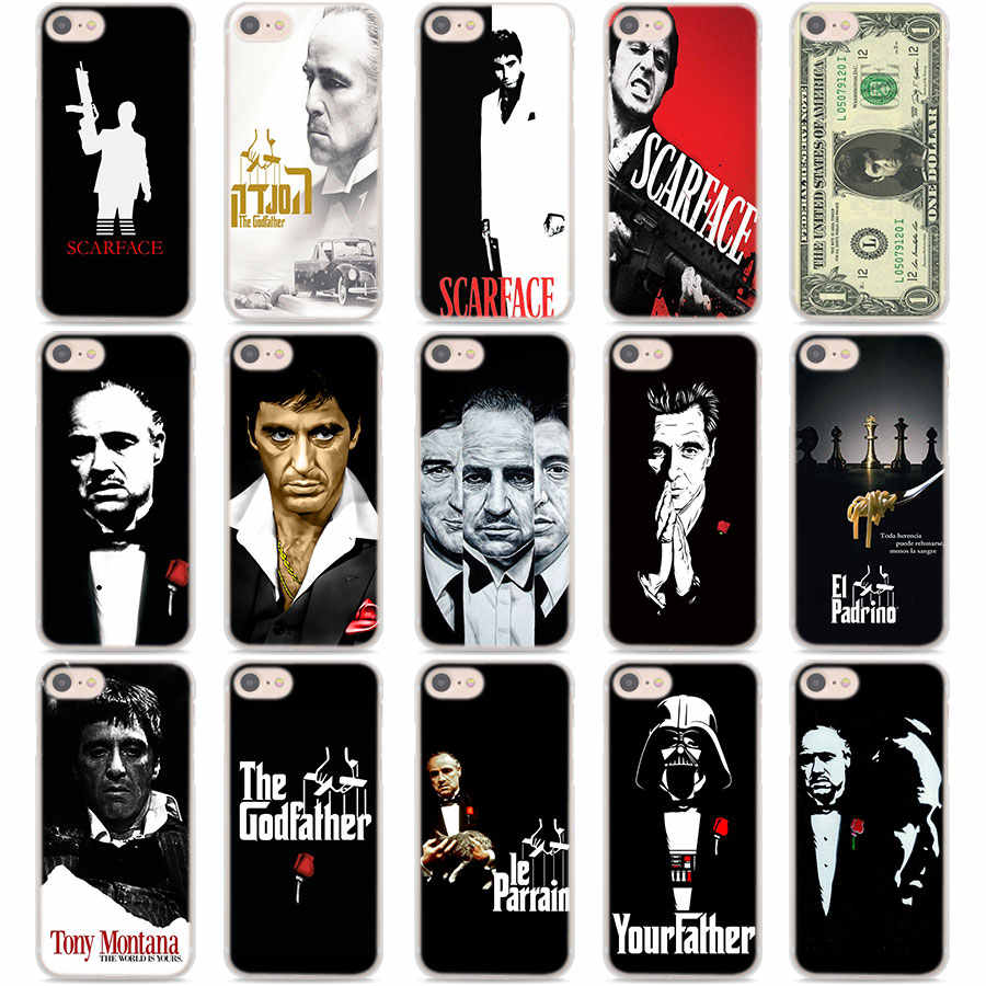 Scarface Godfather Kasus untuk Apple iPhone 11 Pro Max 5 5S 6 6S 7 7 Plus X XS XR X Max Pelindung Keras Ponsel Case Coque