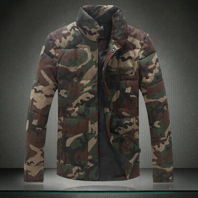Venda quente dos homens Jaquetas Grossas Moda Camuflagem Casacos Plus Size 5XL Casacos Casual Jaquetas de Algodão dos homens de Alta Qualidade
