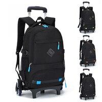Новая мода съемный школьные ранцы детей школьный рюкзак тележка колёса дорожная сумка школьный Дети рюкзаки Mochila Infantil