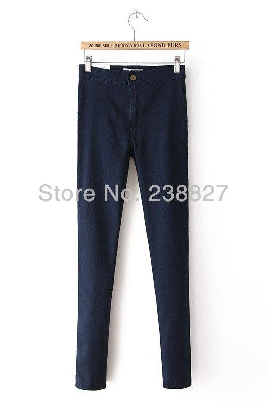 Fashion American Apparel High Waist Jeans AA vintage Hip Slim Trousers Pencil Pants Women's Jeans Female Elastic Black Blue