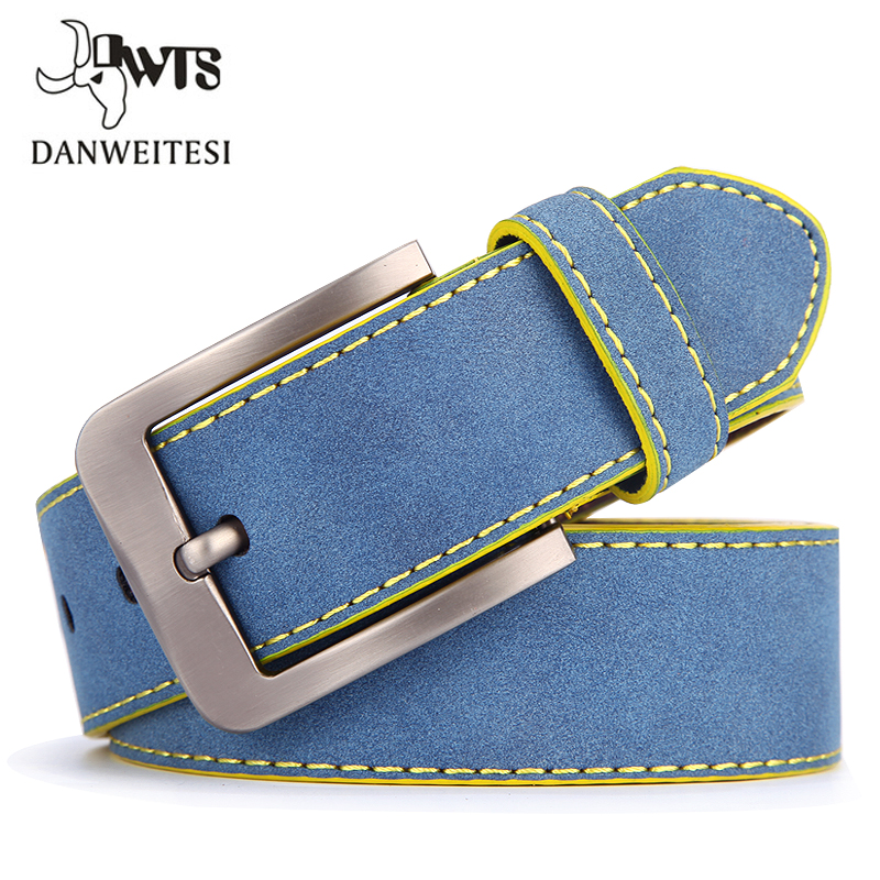 [DWTS]belt Designer High Quality Luxury Brand Pin Buckle Blue Belts For Men Male Strap Men's Fashion Casual Belt Cinto Masculino