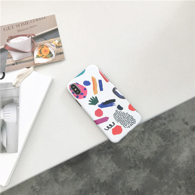 Colorful Lovely Graffiti Cartoon TPU Soft Case For iPhone 4
