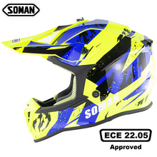 SOMAN Motorcycle Helmet Mens Off-road Full Face Helmet Motocross Adventure Downhill DH Racing Casco Moto Helmet ECE Approved new torc t32 casque moto kenny capacete casco atv motorcycle helmet off road helmet motocross racing helmets dot ece approved