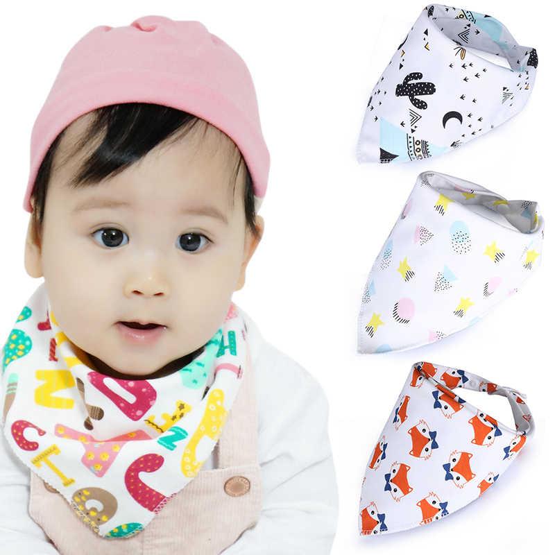 Bayi Oto Segitiga Double Lapisan Kapas Kartun Karakter Cetak Bayi Bandana Oto Dribble Lap Kualitas Tinggi Acak