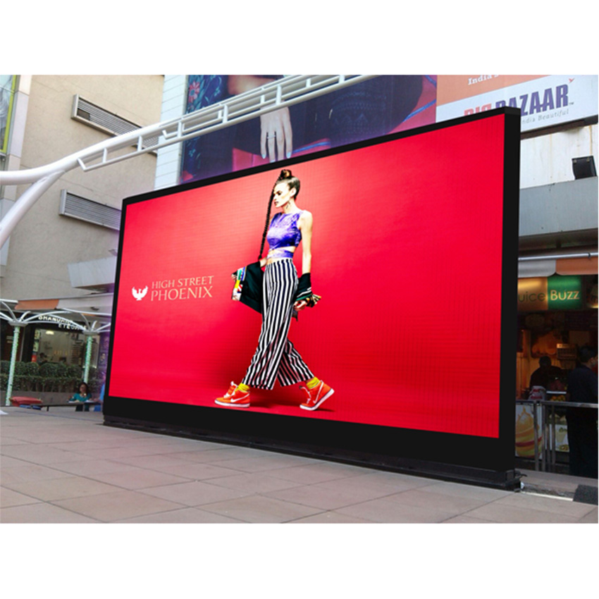 P10 rgb LED Display 640X640mm Waterproof big advertising billboard Die cast aluminum cabinet for LED display TV screen