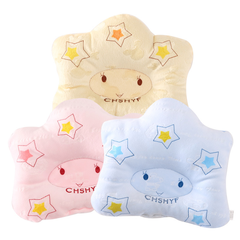 Newborn Pillows Star Shape Soft Cotton Infant Baby Shaping Pillow Striped Unsex Girl font b Bebe