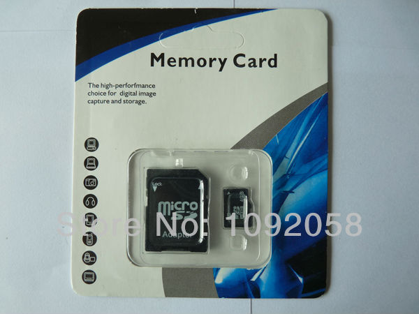 Free Shipping 100% Genuine Original Micro SD Card 16GB Class 10 TF Flash Memory Card+SD Card Adapter