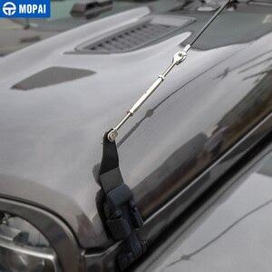 Image 3 - MOPAI araba kaput mandalı kilit engel ortadan kaldırmak halat aksesuarları Jeep Wrangler JL 2018 + için gladyatör JT 2018 +