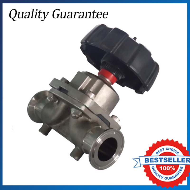 3PCS DN10 Sanitary Fitting Stainless Steel Diaphragm Valve Clamp Type