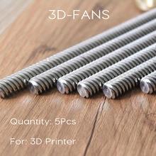 5 unids reprap 3d impresora thsl-400-8d t-tipo de motor de pasos de plomo tornillo diámetro 8 MM Rosca 8mm Longitud de 400mm con Tuerca de Cobre Libre gratis