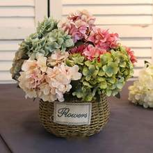2019 Flower Wedding Decoration Artificial flowers Spring vivid Big Hydrangea wedding decoration New