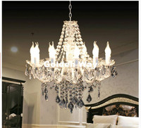 Free Shipping White Color Tiffany Pendant Lamp 3 5 9 12 Heads Lights Vintage Acrylic Crystals