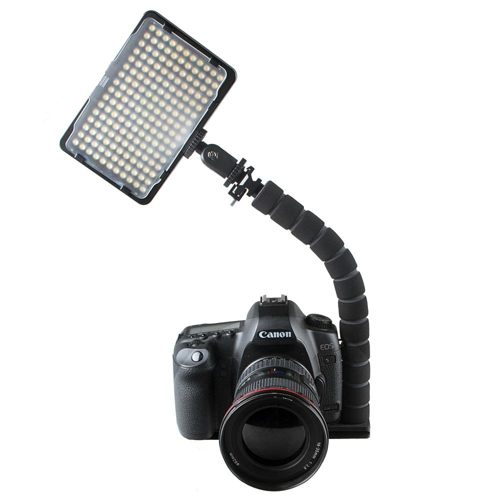 L-shaped Bracket Flexible Arm SLR Camera Hot Shoe Flash Mount Adapter Camera Flash Led Light Bracket Grip Tripod Holder