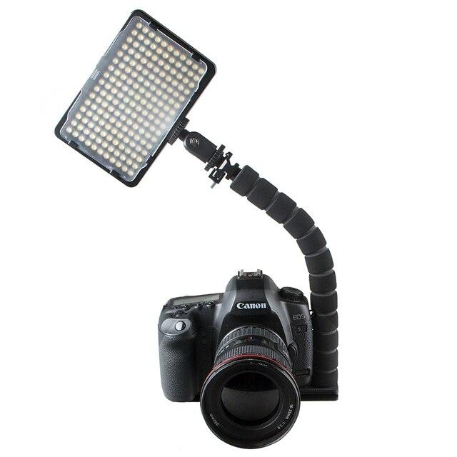 L字型ブラケットフレキシブルアーム一眼レフカメラホットシューマウントアダプターカメラフラッシュledライトブラケットグリップ三脚ホルダー