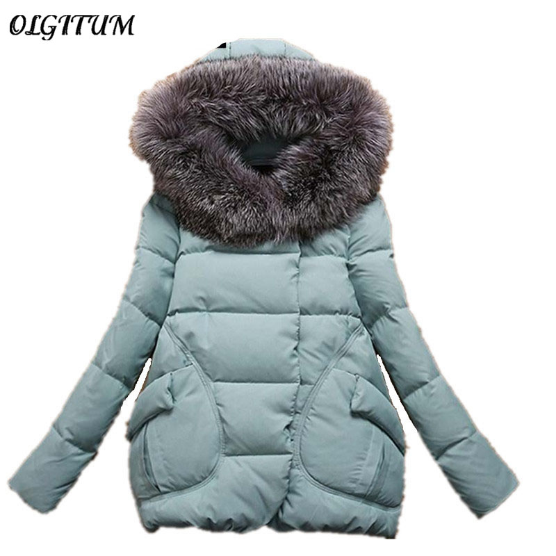 Womens Winter Jackets And Coats Winter Jacket Women Long Fur Hooded Winter Coat Women Cotton Padded