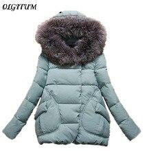 Для женщин S Зимняя куртка S и Пальто и пуховики Зимняя куртка Для женщин длинные Мех Зимнее пальто с капюшоном Для женщин хлопковая стеганая куртка плащ HB0242