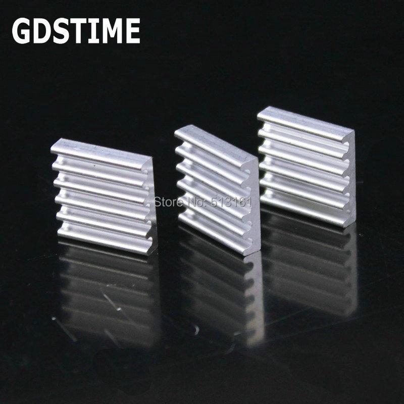 100 PCS Gdstime Refrigeração Do Dissipador De Calor de Alumínio 13x13x3mm Dissipador de Calor do Chipset RAM Radiador Refrigerador