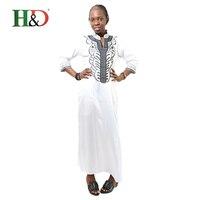 2016 New Nueva Africano Bazin Bordado Vestidos Largos Vestido Sin La Bufanda De Material Blando
