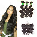 Ms Here Hair Company Bundles With Closure,13x4 Ear To Ear Lace Frontal Closure With Bundles,3 Bundle Brazilian Body Wave frontal