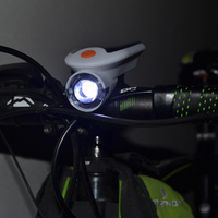 Solarstorm Bike Lamp Rechargeable USB Front Head Light Cycling LED Warning Flashlight With Battery Holder Para