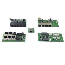 OEM Прямая с фабрики мини Быстрая зарядка 10/100 Мбит/с 3-портовый Ethernet сетевой переключатель концентратора доска двухслойная модель 2 rj45 1* 8pin головкой порт