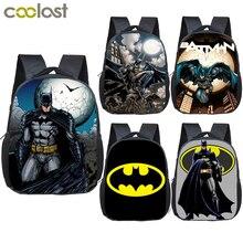 cartoon superhero batman children school bags boys girls kin