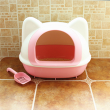 Large Durable Safe Cute Soft Plastic Cat Toilets Resisitant Bite Morbida High Quality Cat Litter Cat Tools Pet Supplies 90Z1990