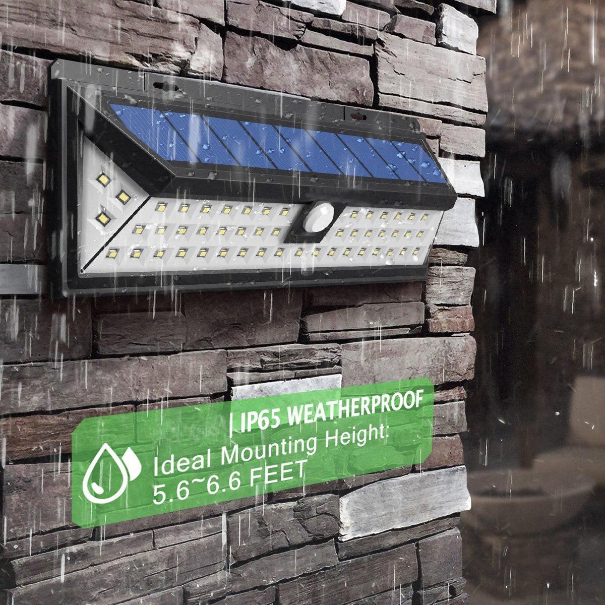 IP65 Водонепроницаемый 34/54/66/90 светодиодный солнечный свет 2835 SMD белый Солнечный Мощность открытый сад света движения PIR Сенсор Путь Бра