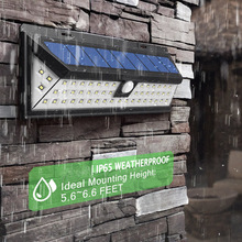 цена на IP65 Waterproof 34/54/66/90 LED Solar Light 2835 SMD White Solar Power Outdoor Garden Light PIR Motion Sensor Pathway Wall Lamp