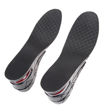 New 1 Pair Height Shoe Insole 3-Layer Air Cushion Heel insert Increase Taller Black Foot Care Tool