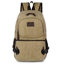 Новый старинные школы рюкзак вскользь рюкзак человек твердые холст рюкзаки для подростка мужские Дорожные сумки