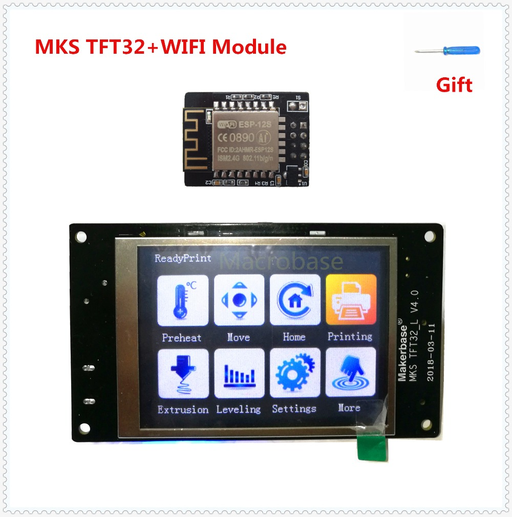 MKS TFT32 v4.0 touch screen + MKS WIFI module splash lcds smart controller touching TFT3.2 display RepRap TFT monitor mks tft32 v4 0 touch screen splash lcds smart controller touching tft 32 display reprap tft monitor creen lcd for 3d printer