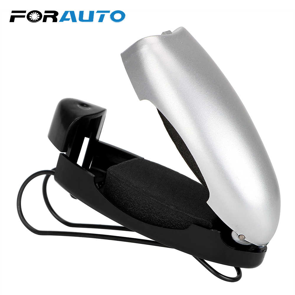 FORAUTO Car Glasses Holder Fastener Cip Ticket Card Clamp Portable Car Glasses Cases Auto Sun Visor Sunglasses Holder