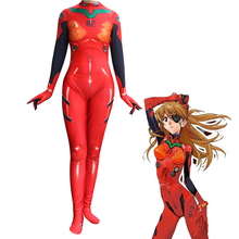 Anime 3D Women NEON GENESIS EVANGELION EVA Asuka Langley Soryu Cosplay Costume Zentai Bodysuit Suit Jumpsuits 2017 eva soryu asuka langley cosplay costume