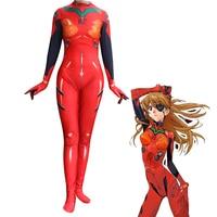 Anime 3D Women NEON GENESIS EVANGELION EVA Asuka Langley Soryu Cosplay Costume Zentai Bodysuit Suit Jumpsuits