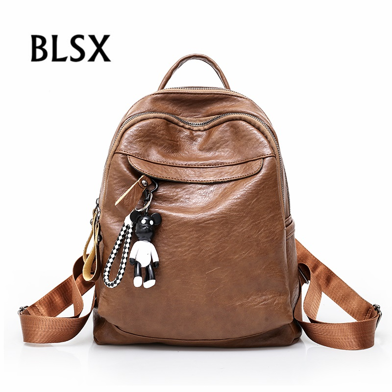 Fashion Women Back Pack High Quality Luxury Pu Leather Rucksack Teenage Girls Female School Shoulder Bags Mochilas Mujer