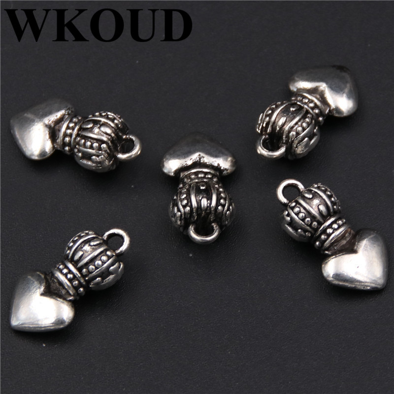 Jewelry Sets & More Wkoud 4pcs Antique Silver 3d Crowns Glamour Necklace Bracelet Alloy Pendants Diy Handmade Jewelry Findings A189 Jewelry & Accessories