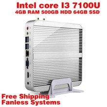 Мини-ПК Intel 7e Gen Кабы Lac Windows 10 i3 7100U 4 ГБ ОПЕРАТИВНОЙ ПАМЯТИ 500 ГБ HDD 64 ГБ SSD Графический 620 300 М Wi-Fi TV Box Бесплатная Доставка usb