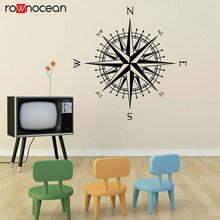 Compass Rose The Matilda Vinyl Decal for walls North South East West Wall Decals, Travel Bedroom 3030