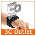 Alta calidad gopro hero accesorios elástico ajustable correa para la muñeca monte para gopro hero 4 3 +/3 2 1 hd cámara sj4000 SJ5000