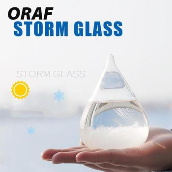 Weather Forecast Crystal Drops Water Shape Storm Glass Home Decor Office Art