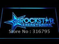 A228 Rockstar Energy Drink Beer Bar muestra de Neón DEL LED con Encendido/Apagado 20 Colores 5 Tamaños elegir