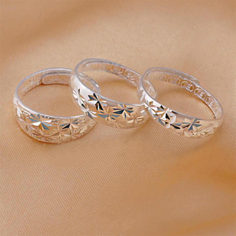OMHXFC gros mode européenne femme homme unisexe fête anniversaire mariage cadeau étoile redimensionnable 925 bague en argent Sterling RI161