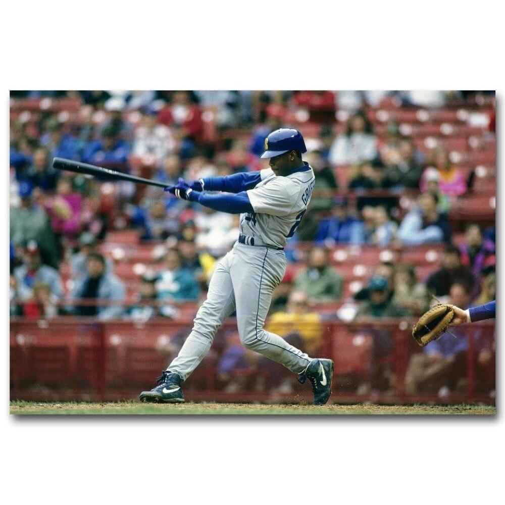 9a8569ce19 1060A Ken Griffey Jr Great Baseball Player-Wall Sticker Silk Poster Light Canvas  Decoration