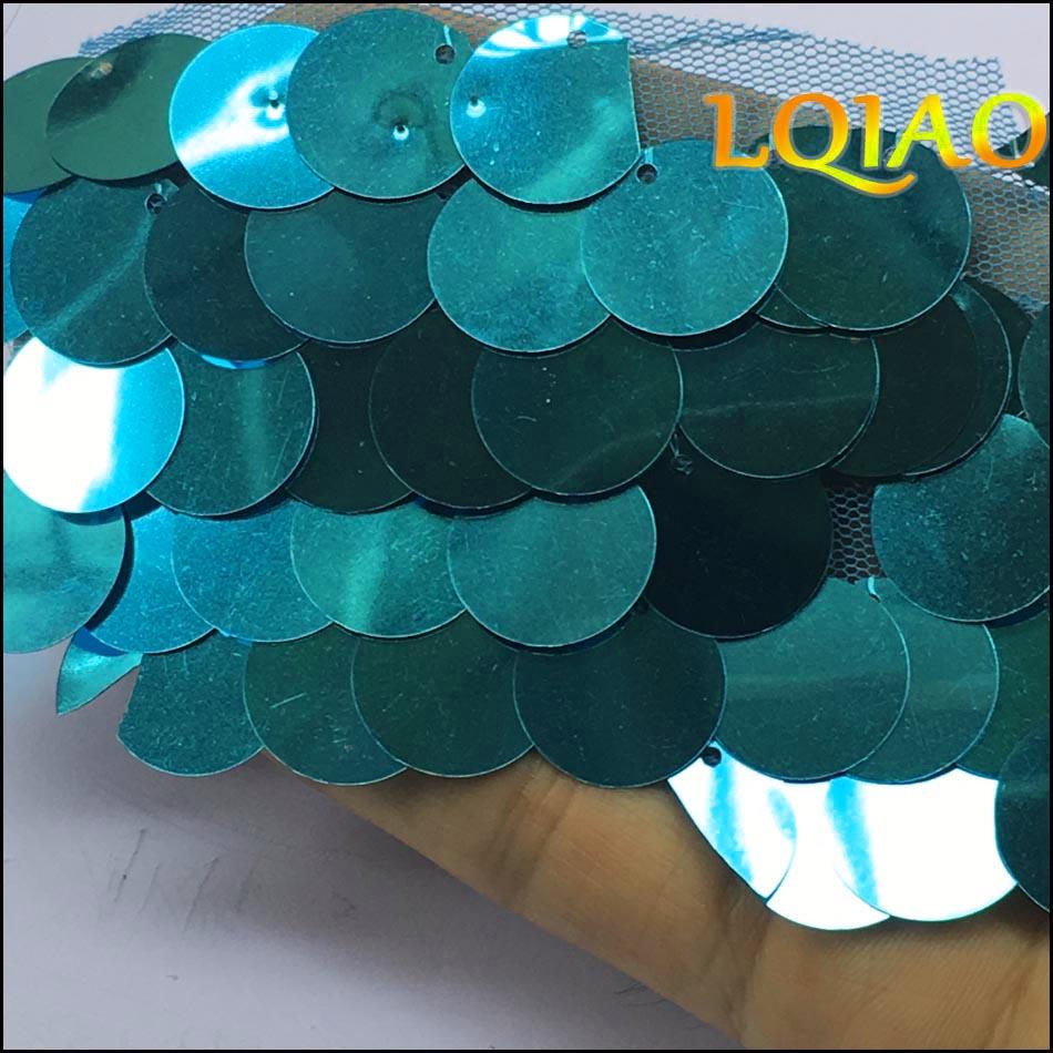 Turquoise Sequin Fabric-01