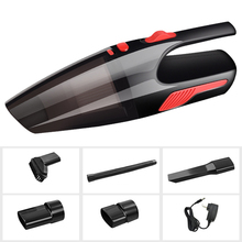 Portable Mini Vacuum Cleaner For Car Dry And Wet Flat Suction Nozzel 120W Automatic Clean Dirty Handheld