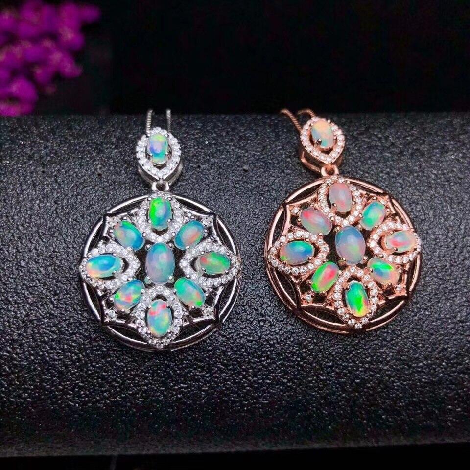 Natural Opal Necklace, Australian Sapphire, Multi-Color, 925 Silver, Global Gem Factory WholesaleNatural Opal Necklace, Australian Sapphire, Multi-Color, 925 Silver, Global Gem Factory Wholesale