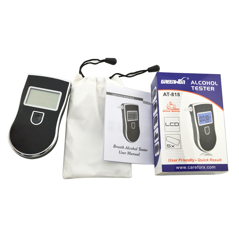 Testeur d'alcool à haleine numérique, professionnel, Police, testeur d'alcool, respirateur 2019, AT818, livraison gratuite, nouveauté, offre spéciale 818