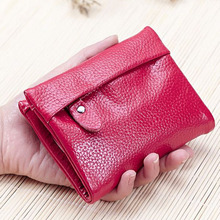 2016 Summer New Short Women s Wallets Fashion Soft Genuine Leather Women Wallet Small Cowhide Card