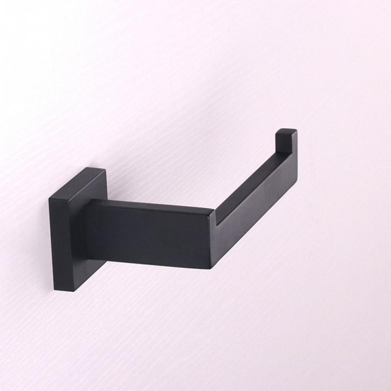 2018 new Wall Hook Toilet Paper Roll Holder Matte Black 304 Stainless Steel Bathroom